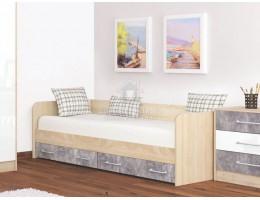 """Кровать с ящиками """"Колибри Лофт"""" 0,8м (Ателье Светлое) Производитель: ТЭКС"""
