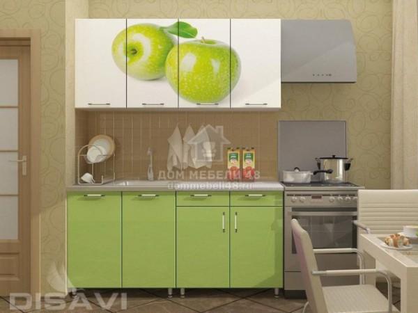 """Кухня """"Яблоко"""" 1,6м (2-ящика) МДФ"""