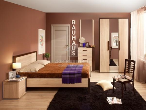 """Спальня """"BAUHAUS"""" (Баухаус) (комплектация-1) ЛДСП производитель: Глазов"""