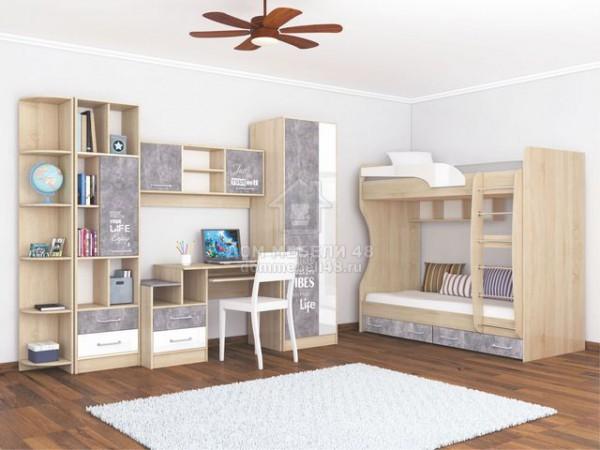 """Модульная детская спальня """"Колибри Лофт"""" (Комплект №2) Производитель: ТЭКС"""