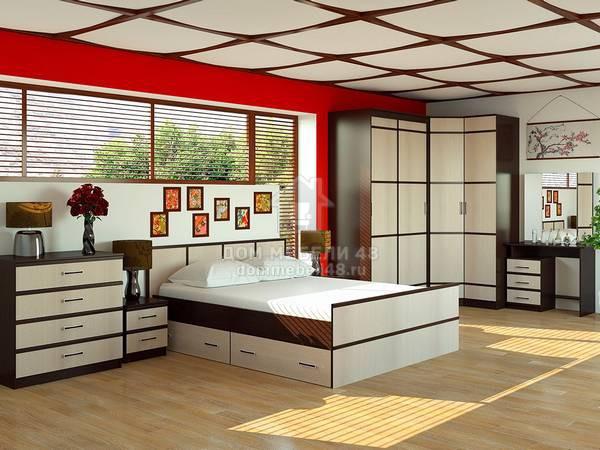 Модульная спальня Сакура (комплектация-2)