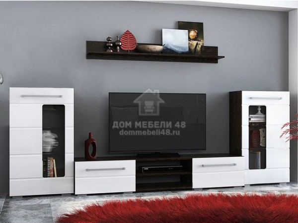 """Модульная гостиная """"Милан"""" 3,0м (Комплект №2) МДФ Венге Производитель: BTS"""