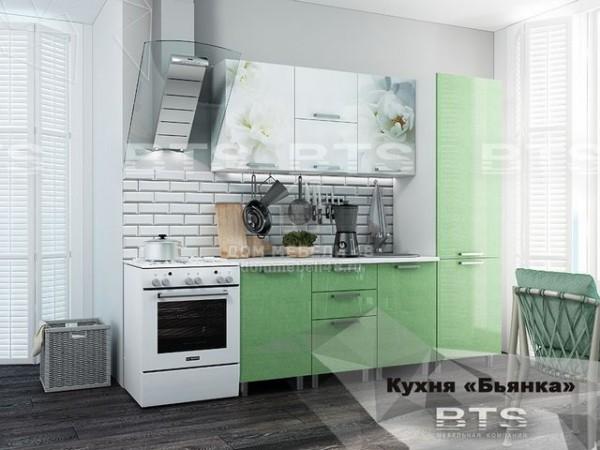 """Кухня """"Бьянка"""" 2,1м салатовый МДФ производитель: БТС"""