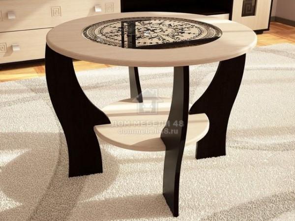 Журнальный стол №1 с круглым стеклом Производитель: Стиль