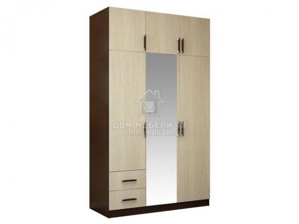 Шкаф 3-х створчатый с перегородкой (венге/лоредо)