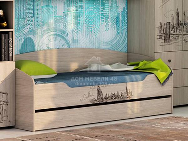 """Кровать """"Мийа-3А"""" КР-001 0,8х2,0м Города ЛДСП Производитель: Стиль"""