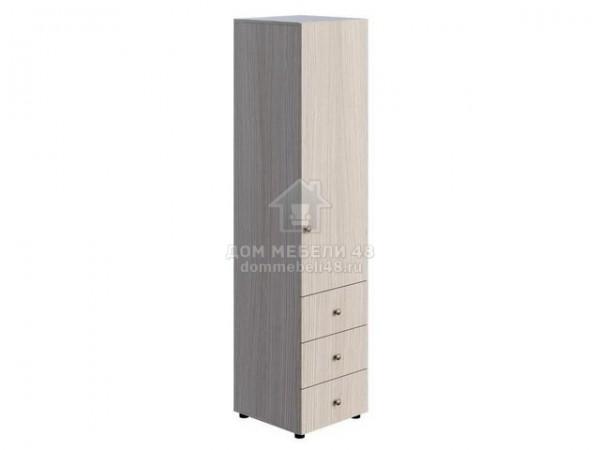 """Шкаф """"Мийа-3А"""" ШК-004 1 ств. комбинированный 0,49м ЛДСП Производитель: Стиль"""