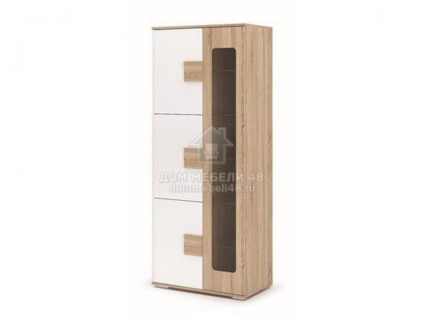 """Шкаф с витриной """"Афина"""" (ШК113) 0,8м МДФ+ЛДСП производитель: Стендмебель"""