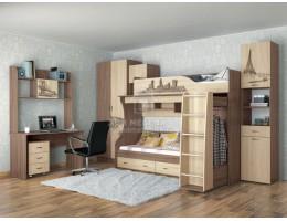 Модульная подростковая спальня Орион (Комплект №2)