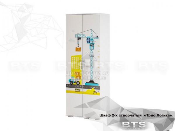 """Шкаф 2-х ств. """"Трио"""" Логика (ШК-09) 0,8м ЛДСП производитель: БТС"""