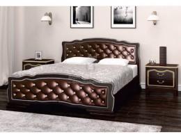 """Кровать """"Карина-10"""" 1,6м Массив (Орех Тёмн/ Бриллиант) производитель: Бравомебель"""