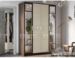 "Шкаф 4-х створчатый"" Фиеста NEW"" 1,6м ЛДСП Производитель: БТС"