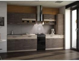 """Кухня """"Зебрано"""" 2,8м ЛДСП. Производитель - Эра (модульная кухня)"""