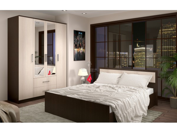 Модульная спальня Фиеста (комплектация-4)