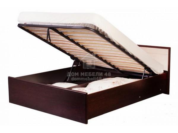 """Кровать """"Амели"""" 1,4х2,0м, с подъемным механизмом, Венге"""