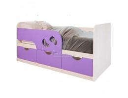 Минима Лего детская кроватка с бортиком БТС 1,6м МДФ+ЛДСП Лиловый сад