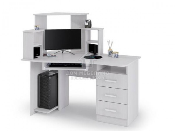 Стол компьютерный №1 1,3м (Анкор) ЛДСП