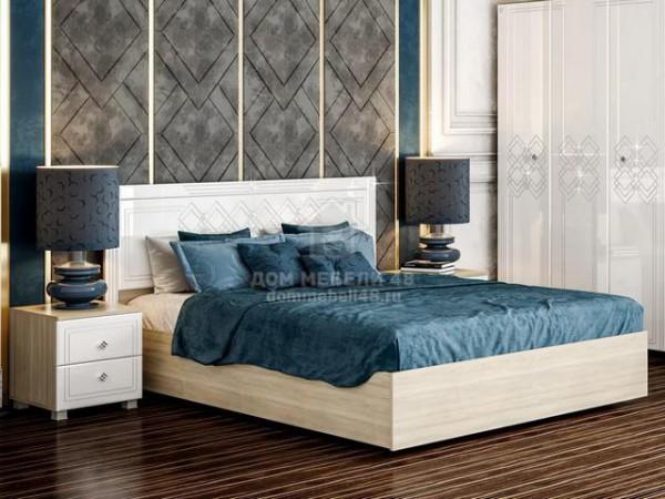 """Кровать """"Амели"""" МДФ щиток 1,6м с подъемным механизмом Производитель: Стиль"""