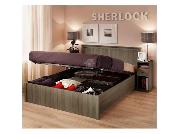 """Кровать """"Sherlock"""" (Шерлок) 1,4м/1,6м/1,8м с подъемным механизмом ЛДСП производитель: Глазов"""