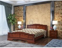 """Кровать """"Карина-6"""" 1,8м Массив (Орех) производитель: Бравомебель"""