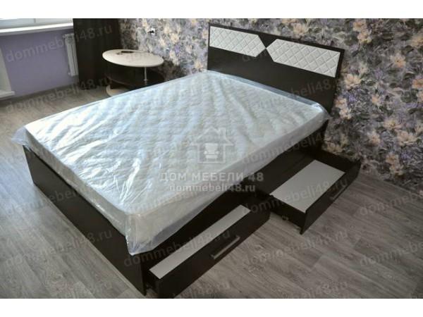 """Кровать """"Николь"""" 1,4м Эра. Венге/Ясень Шимо"""
