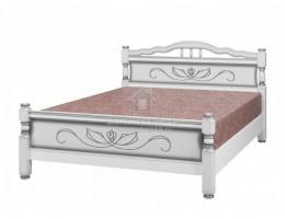 """Кровать """"Карина-5"""" 0,9м Массив (Белый Жемчуг) производитель: Бравомебель"""