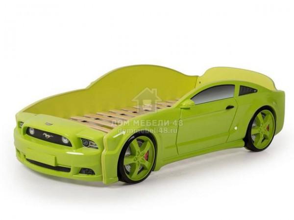 """Кровать-машина """"Мустанг"""" 3D (объемная пластиковая) зеленая Производитель: Futuka kids"""