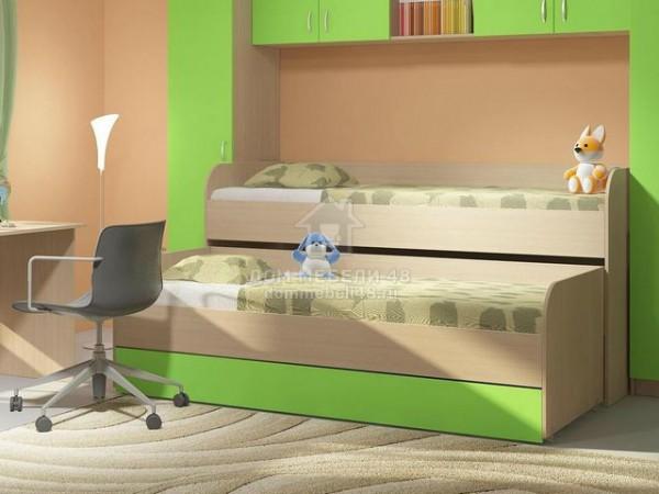 """Кровать 2-х уровневая """"Мийа-2"""" Зеленый ЛДСП Производитель: Стиль"""