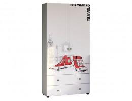"""Шкаф """"Мийа-3А"""" ШК-007 2 ств. комбинированный 0,98м Лондон ЛДСП Производитель: Стиль"""