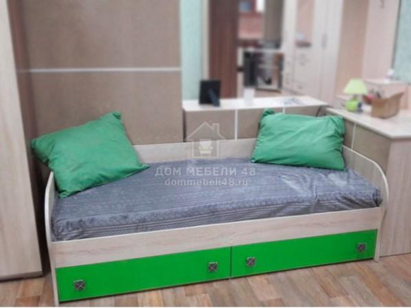 """Кровать с ящиками """"Колибри"""" 0,8м (Акрил Мохито) Производитель: ТЭКС"""