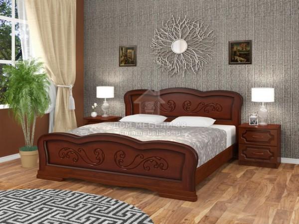 """Кровать """"Карина-8"""" 1,6м Массив (Орех) производитель: Бравомебель"""