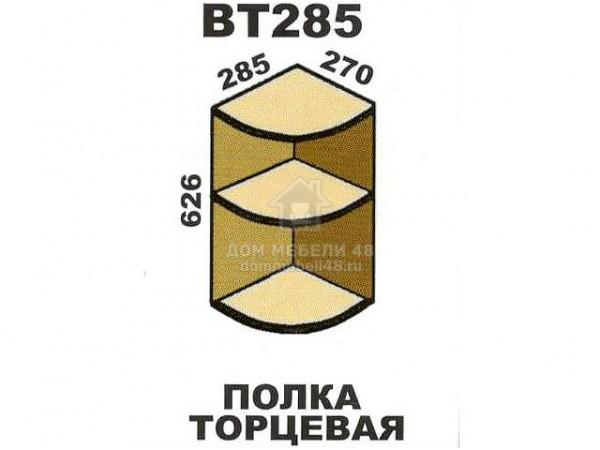 """ВТ285 Полка торцевая """"Шимо"""". Производитель - Эра"""