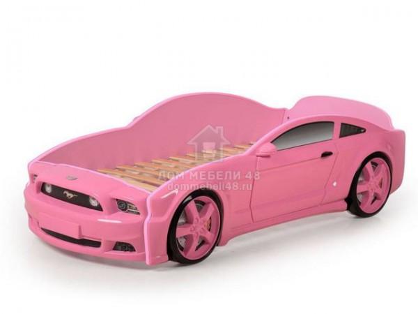 """Кровать-машина """"Мустанг"""" 3D (объемная пластиковая) розовая Производитель: Futuka kids"""