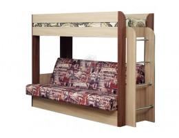 """Кровать-чердак с диван-кроватью """"Немо"""" (без матраса) производ-ль: Олмеко"""