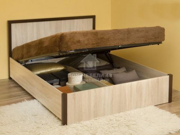 """Кровать 3.2 """"BAUHAUS"""" (Баухаус) 1,4м с подъемным механизмом ЛДСП Производитель: Глазов"""