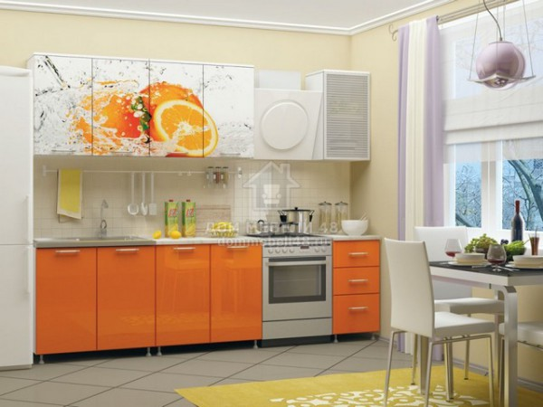 """Кухня """"Апельсин"""" 2,0м ЛДСП производитель: Дисави"""