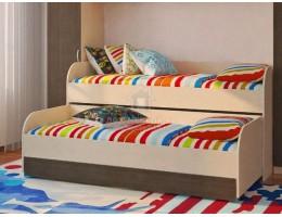 """Кровать 2-х уровневая """"Мийа-2"""" Венге ЛДСП Производитель: Стиль"""