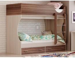 """Кровать двухъярусная """"Д2"""" 0,8х1,9м ЛДСП производитель: Олмеко"""