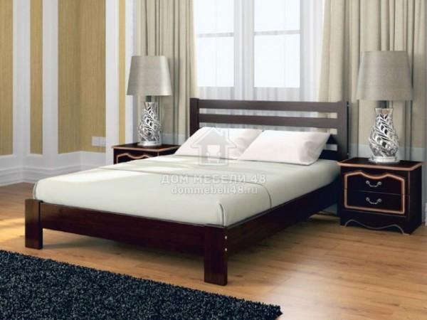 """Кровать """"Вероника"""" 1,2м Массив (Орех Тёмный) производитель: Бравомебель"""